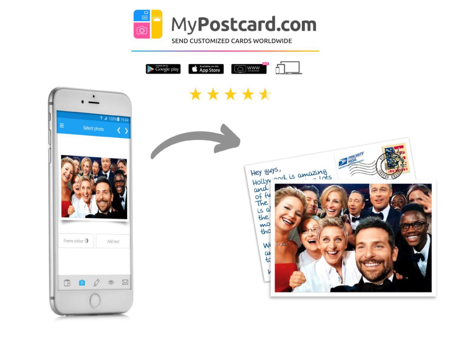 MyPostcard - Die Postkarten App